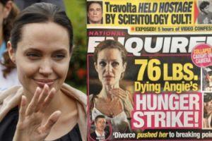 """Amerykański tabloid o Angelinie: """"Waży 34 KILOGRAMY! Jest karmiona przez sondę!"""""""
