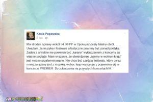 Kasia Popowska ODWOŁUJE występ w Opolu
