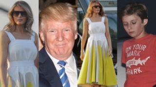 Donald i Melania w sukience za 10 tysięcy wracają z wakacji (ZDJĘCIA)