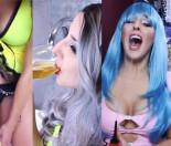 Siostra Bogusz pije własny mocz z kieliszka