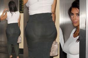 Kim Kardashian nosi silikonowe wkładki na pupie?! (ZDJĘCIA)
