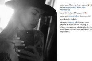 """Maja Sablewska kłóci się z fanką, która zarzuciła jej """"brak naturalności""""..."""