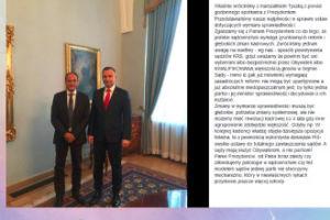 """Kukiz spotkał się z prezydentem: """"Przedstawialiśmy nasze wątpliwości w sprawie ustaw dotyczących wymiaru sprawiedliwości"""""""