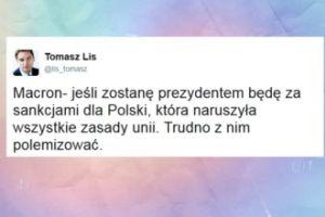 """Kandydat na prezydenta Francji chce sankcji dla Polski. Lis: """"Trudno z nim polemizować"""""""