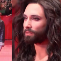 Conchita Wurst z dekoltem do pępka na Berlinale