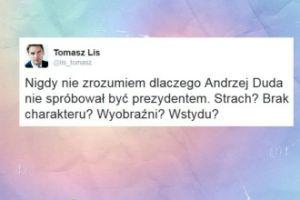 """Lis: """"Nigdy nie zrozumiem dlaczego Andrzej Duda nie spróbował być prezydentem"""""""