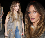 Jennifer Lopez idzie do restauracji w futrzanej kamizelce (ZDJĘCIA)