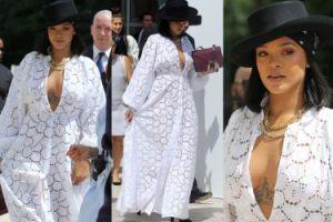 Rihanna w firance od Diora spaceruje po Paryżu (ZDJĘCIA)