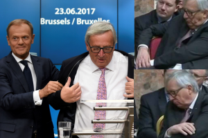 Szef Komisji Europejskiej jest uzależniony od alkoholu? Utknął w marynarce i... pomógł mu Donald Tusk!