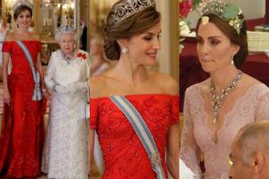Tiary i koronki w Pałacu Buckingham: księżna Kate czy królowa Letycja? (ZDĘCIA)