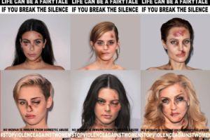 Pobite Kim, Angelina, Madonna i Miley w mocnej kampanii społecznej! (ZDJĘCIA)