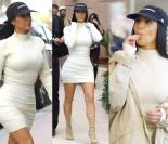Kim w obcisłej sukience na zakupach w Dubaju (ZDJĘCIA)
