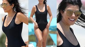 Kourtney Kardashian w kostiumie kąpielowym (ZDJĘCIA)