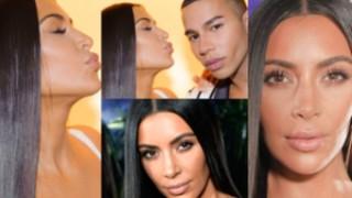 Skupiona Kim Kardashian wciąga brzuch na otwarciu sklepu (ZDJĘCIA)