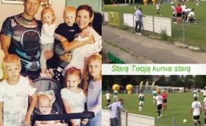 Mąż Łukomskiej-Pyżalskiej na meczu: