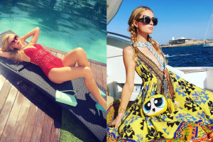 Paris Hilton opala się na jachcie na Ibizie (FOTO)