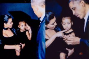 """Kim Kardashian ma pamiątkę po Obamie... """"Dał North M&M'sy, ale nie pozwoliłam jej ich zjeść!"""""""