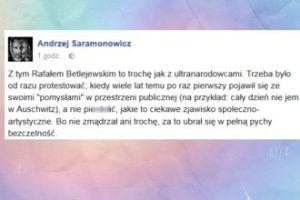 """Saramonowicz o Betlejewskim: """"Trzeba było od razu protestować"""""""