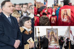 Andrzej Duda z mamą i ksiądz Natanek na... intronizacji Jezusa na króla Polski! (ZDJĘCIA)
