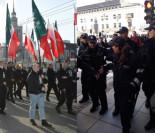 """TYLKO U NAS! Obywatele RP blokują marsz ONR-u! """"Polska wolna od FASZYZMU!"""" (WIDEO)"""