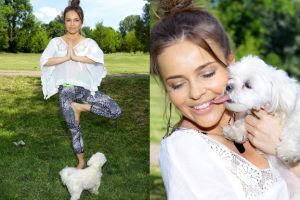 Edyta Herbuś ćwiczy jogę ze Stokrotką (ZDJĘCIA)