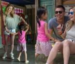Hania Lis tańczy z dzieckiem w