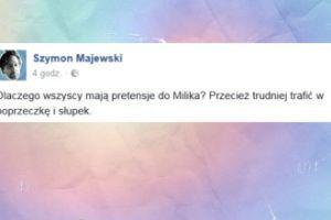 """Majewski o Miliku: """"Przecież trudniej trafić w poprzeczkę i słupek"""""""