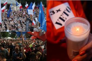 Tak wyglądał protest w Warszawie. 50 TYSIĘCY OSÓB żądało weta od Andrzeja Dudy! (WIDEO)