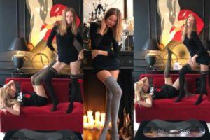 Joanna Przetakiewicz pokazuje nogi i luksusowe śniadanie (FOTO)