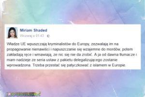 """Shaded: """"Trzeba przestać się patyczkować z islamem w Europie"""""""