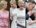 Roześmiana Agata Duda wita z mężem łotewską parę prezydencką (ZDJĘCIA)