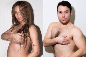Amerykanin parodiuje ciążowe zdjęcia Beyonce (ZDJĘCIA)