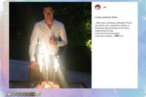 Robert Lewandowski pokazał tort urodzinowy