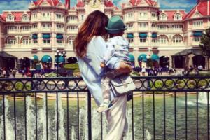 Ania Wendzikowska w Disneylandzie z córką