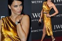 Adriana Lima chwali się figurą w złotej sukience