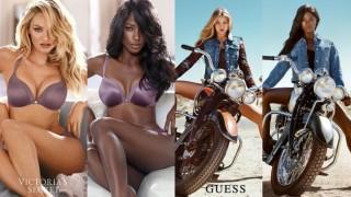 Czarnoskóra modelka odtwarza znane kampanie reklamowe