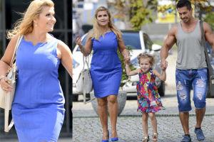 Uśmiechnięta Kasia Skrzynecka z córką i mężem (ZDJĘCIA)