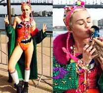 Miley SAMA SZYJE swoje ubrania!