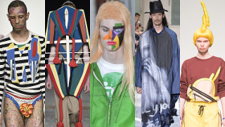 Zobaczcie NAJDZIWNIEJSZE stylizacje z męskich tygodni mody w Londynie i Paryżu (ZDJĘCIA)