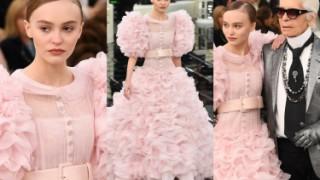 Córka Johnny'ego Deppa w sukni ślubnej na wybiegu Chanel (ZDJĘCIA)