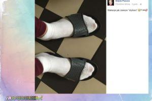 Edyta Pazura pokazuje stopy... w klapkach