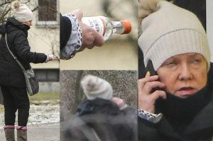 """Kotulanka znów pije. """"Kupiła trzy butelki alkoholu, jednak nie doniosła ich do domu"""""""