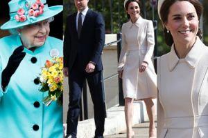 Elegancka księżna Kate z Williamem i królową na mszy Wielkanocnej (ZDJĘCIA)