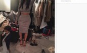 Kim Kardashian w garderobie