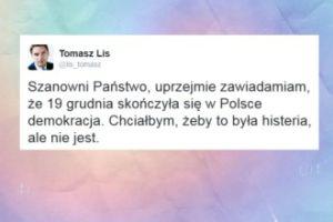"""Lis: """"Zawiadamiam, że 19 grudnia skończyła się w Polsce demokracja"""""""