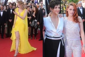 Żółta Uma Thurman i Kristen Stewart w spodniach (ZDJĘCIA)