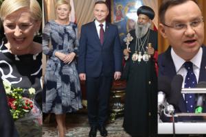 Andrzej Duda z żoną na spotkaniu z etiopskim biskupem (ZDJĘCIA)