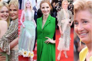 Cannes 2017: uściski Kidman i Fanning, 58-letnia Thompson i Chastain w zieleni (ZDJĘCIA)
