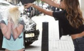 Nicole Scherzinger pomaga fance oblać się wodą