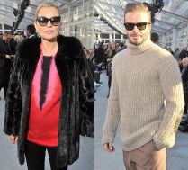 Kate Moss i David Beckham na pokazie mody
